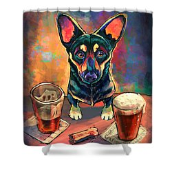 Yappy Hour Shower Curtain by Sean ODaniels