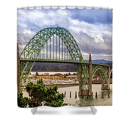 Shower Curtain featuring the photograph Yaquina Bay Bridge by James Eddy