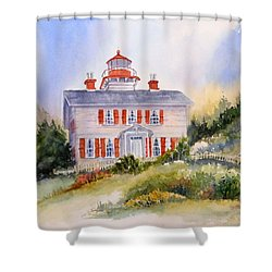 Yaquina Bay Light Shower Curtain