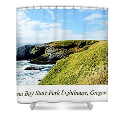 Shower Curtain featuring the photograph Yaquina Bay Lighthouse Oregon by A Gurmankin