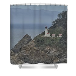 Yaquina Bay Lighthouse Shower Curtain