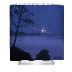 Yaquina Head At Night Shower Curtain