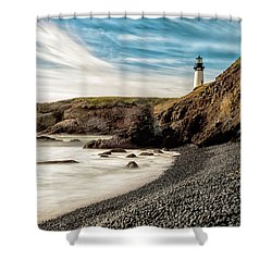 Yaquina Head Lighthouse 1 2017 Shower Curtain