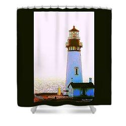 Yaquina Head Lighthouse Shower Curtain by Steve Warnstaff