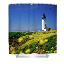 Yaquina Head Lighthouse- V2 Shower Curtain