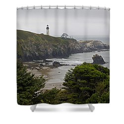 Yaquina Head Lighthouse View Shower Curtain