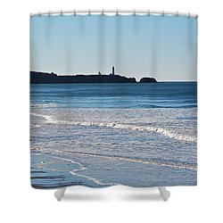 Yaquina Lighthouse And The Pacific Shower Curtain