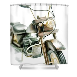 Yard Sale Wooden Toy Motorcycle Shower Curtain