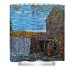 Yates Mill Shower Curtain by Micah Mullen