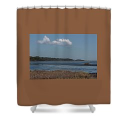 Yawkey Wildlife Reguge - View From The Causeway Shower Curtain by Suzanne Gaff