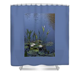 Yawkey Wildlife Reguge Water Lilies With Rare Plant Shower Curtain
