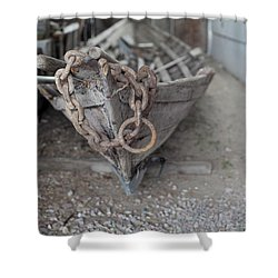 Shower Curtain featuring the photograph Ye Old Fishing Boat by Fran Riley