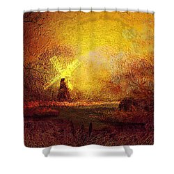 Ye Olde Mill Shower Curtain