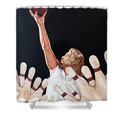 Shower Curtain featuring the painting Yeah Yeah Oh Yeah by Tom Roderick