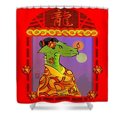 Year Of The Dragon Shower Curtain by LD Gonzalez