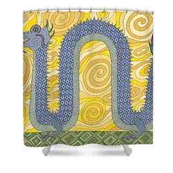 Year Of The Dragon Shower Curtain by Pamela Schiermeyer