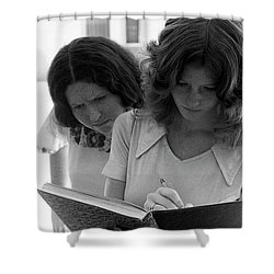 Yearbook Signing, 1972, Part 1 Shower Curtain