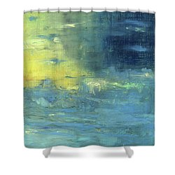 Shower Curtain featuring the painting Yearning Tides by Michal Mitak Mahgerefteh