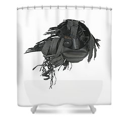 Yeh Uh Huh Sure Uh Huh Shower Curtain by Michael Jude Russo