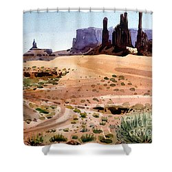Yei Bi Chei And Totem Poles Shower Curtain