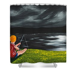 Yel No Catch A Kelpie Wi That Shower Curtain