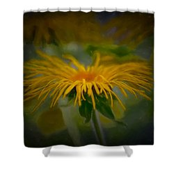 Shower Curtain featuring the photograph Yellow 2 by Leif Sohlman
