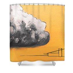 Yellow Alex Dark Cloud Shower Curtain