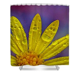 Yellow And Dew Shower Curtain