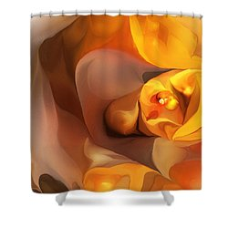 Yellow And Gold Abstract 050712 Shower Curtain