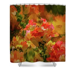 Shower Curtain featuring the digital art Yellow And Orange #h6 by Leif Sohlman