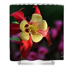 Yellow And Red Columbine Shower Curtain