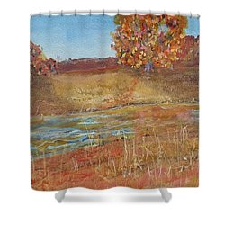 Yellow And Red Maples Shower Curtain