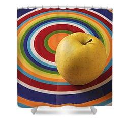 Yellow Apple  Shower Curtain