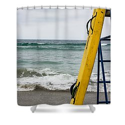Yellow At The Ready Shower Curtain