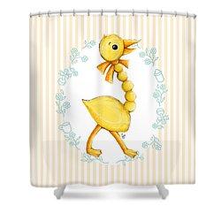 Yellow Baby Duck Shower Curtain
