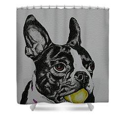 Yellow Ball  Shower Curtain