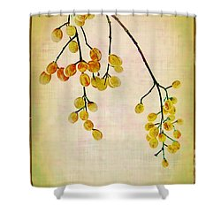 Yellow Berries Shower Curtain