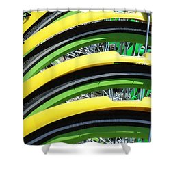 Yellow Bike Fenders Shower Curtain