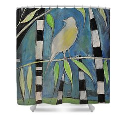 Yellow Bird Up High... Shower Curtain by Tim Nyberg