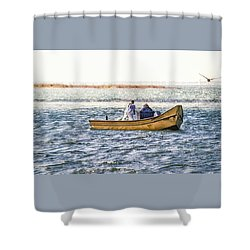 Yellow Boat - Shower Curtain
