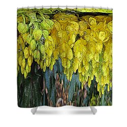 Yellow Buds Shower Curtain