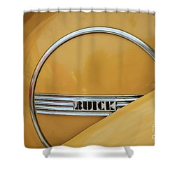 Yellow Buick Shower Curtain by Dennis Hedberg