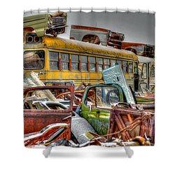 Yellow Bus Shower Curtain