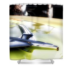 Yellow Chevy  Shower Curtain by Mark David Gerson