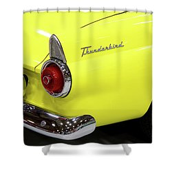 Shower Curtain featuring the photograph Yellow Classic Thunderbird Car by Tyra OBryant
