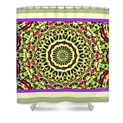 Yellow Color Wheel Shower Curtain