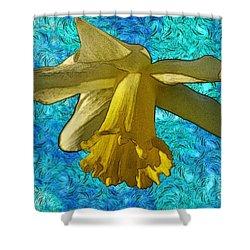 Yellow Daffodil 3 Shower Curtain by Jean Bernard Roussilhe