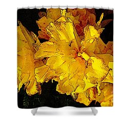 Yellow Daffodils 4 Shower Curtain by Jean Bernard Roussilhe