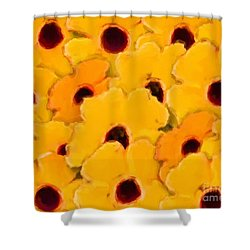Yellow Daisy Flowers Shower Curtain