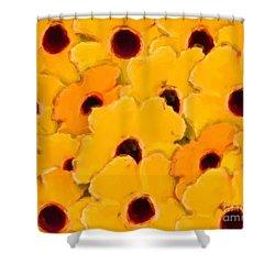 Yellow Daisy Flowers Shower Curtain